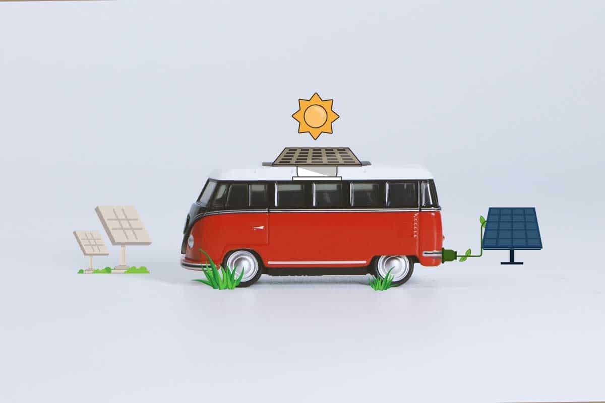 Photo of van using solar to power campervans